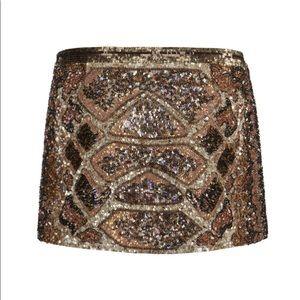 All Saints Sequin Mini Skirt Python 2 Bling